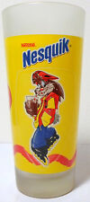 NESTLE VTG 80's NESQUIK 6.5'' GLASS GREEK RELEASE RARE COLLECTIBLE A
