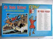 De rode ridder nr 101  EERSTE Druk ongekleurd  1982