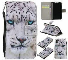 Leopard Card Wallet Flip Phone Case For Samsung iPhone Huawei Sony 1+ LG ZTE