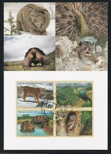 UNITED NATIONS GENEVA FIRST DAY COVER 2001 ENDANGERED SPECIES ON MAXI CARD