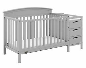 Graco Benton 4-in-1 Convertible Crib and Changer, Pebble Gray
