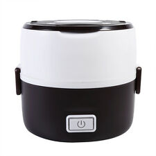 1.6L Electric 3 Layers 200W Lunch Box Mini Rice Cooker Steamer Stainless Steel