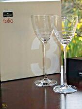 Waterford Crystal John Rocha Folio 2 long stem Wine Glasses -New in Sealed Box.