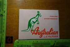 Alter Aufkleber Sport Mode Kleidung Schuhe AUSTRALIAN L ALPINA (rot-weiß)