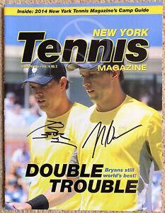 Bob & Mike Bryan autographs New York Tennis Magazine