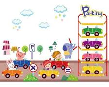 Wandtattoo Wandsticker Wandaufkleber Kinderparkhaus Autos Kinder 66 x 95 W100