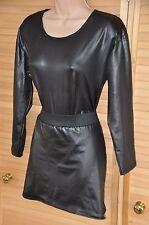 ODDS 1 - Set 1 - Maid's satiny sissy mini-skirt & body,  UK 16 approx., CD/TV BN