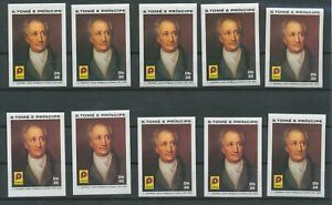 [P883] St Tome 1981 Philatelia Frankfurt stamps VF MNH imperf (10x) val $70