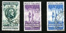 1950 ITALY Stamps #537, 538, 539 All:  Used, H