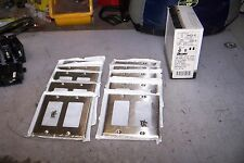(10) NEW LEVITON 84409-40 2-GANG DECORA/GFCI DEVICE WALLPLATE STAINLESS FINISH