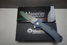 """Maserin 680/G10V Police Flipper 3.75"""" N690 Stonewashed Blade, #543904"""