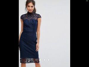 CHI Chi London Damenkleid Gr.42 Blau