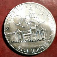 Austria 100 Shilling 1976 XII Olimpiada de Invierno @ Sin circular @