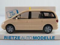 "Rietze 30750 VW Sharan I (1995-2000) ""TAXI"" in hellelfenbein 1:87/H0 NEU/OVP"