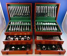 Queen Anne Williamsburg by Stieff Sterling Silver Flatware Set 48 Service 296 Pc