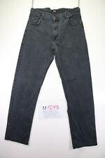 Lee Brooklyn (Cod. M1298) tg 50 W36 L34 jeans Nero usato vintage streetwear