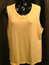 CHICO'S Yellow Gold Sweater Knit TANK TOP Wome's Sz 3 (16-18)
