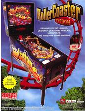 Stern ROLLER COASTER TYCOON 2002 Original NOS Flipper Game Pinball Machine Flyer
