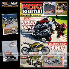 MOTO JOURNAL N°1926 TRIUMPH 675 STREET TRIPLE 1050 SPEED TRIPLE SUZUKI GSXR 750