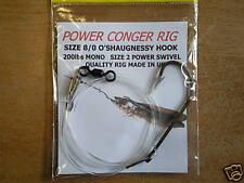 SEA FISHING:CONGER POWER RIG:200lb MONO: 8/0 HOOK