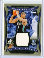 """2004-05 SP GAME-USED #AF-SB SHANE BATTIER """"AUTHENTIC FABRICS"""" JERSEY - GRIZZLIES"""