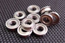 (10 PCS) (4x8x3 mm) (Flange) Metal Shielded Ball Bearing For TAMIYA TRAXXAS HPI