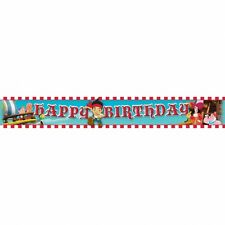 JAKE AND THE NEVERLAND PIRATE KIDS BIRTHDAY PARTY FOIL BANNER DECORATION