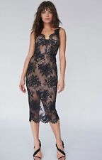 Misha Collection Black & Nude Lace Dress Sz UK8 New With Tags. Never Worn
