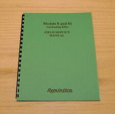 Remington Model 8 & 81  Repair / Field Service Manual - #62