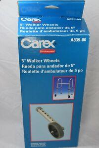 """Genuine Rubbermaid Carex A839-00 5"""" inch Walker Wheels One Pair Unused AD1"""