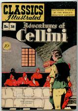 Classics Illustrated #38 ORIGINAL 1st EDITION - Adventures Of Cellini  VG+ 4.5