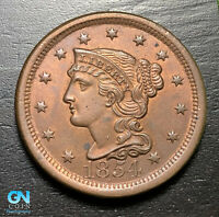 1854 Braided Hair Large Cent --  MAKE US AN OFFER!  #B9224