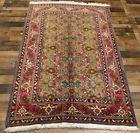 5'x8' Handmade wool 400 KPSI Authentic 50 Raj Floral Traditional Vintage rug