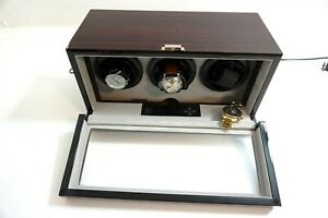 BELOCIA AUTOMATIC WATCH WINDER FOR 3 WATCHES ~ WORKS FINE BUT SOLD AS-IS
