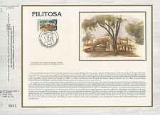 FEUILLET CEF / DOCUMENT PHILATELIQUE / FILITOSA / PETRETO BICCHISANO 1986