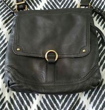 COLORADO Black Leather Boho Crossbody Handbag Bag