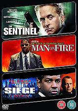 The Sentinel/ Man On Fire/ The Siege (DVD, 2009, 3-Disc Set) Action Region 2 Uk