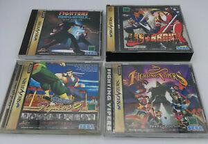 Sega Saturn Import Fighting Game Lot - Last Bronx, Vipers, Megamix, Virtua 2