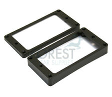 Pickup mounting ring curved bottom, frame, black set of 2 neck and bridge for LP