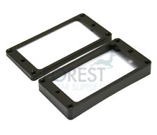Pickup mounting ring curved bottom, frame, black set of 2 neck and bridge for LP