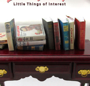 1:6 Scale SHERLOCK HOLMES Set of 9 Prop Books Miniature Book Play Scale Blythe