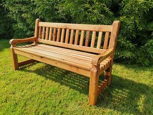 Solid Oak Bench Three Seat