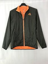 Adidas Adizero Climacool Tennis Zip Up Jacket Brown Orange Geometric Print UK S