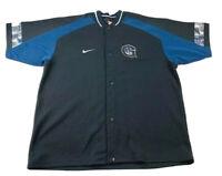 * Vintage 90s Nike Georgetown Hoyas Basketball Warmup Shooting Shirt Mens XXL *