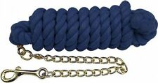 BLUE 10' Western Braided Cotton Lead w/ Brass Chain & Snap! NEW HORSE TACK!!