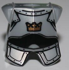 LeGo Castle Pearl Light Gray Body Armor Gold Crown Minifig Neckgear Fantasy Era