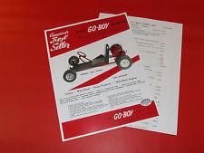Wow! Vintage & Rare Fox Go-Boy Go Kart Hand Out , Mailer, Sales Catalog