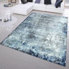 Moderner Kurzflor Teppich Abstrakt Gemälde Look Maritim Design In Blau