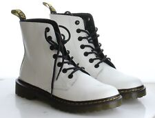 18-48 MSRP $105 Women's Size 10M Dr.Martens Luana White Leather Combat Boots