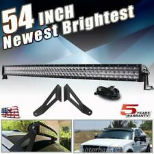 "For 99-2015 Ford F250 F350 54"" Curved LED Light Bar Upper Roof Mounting Brackets"